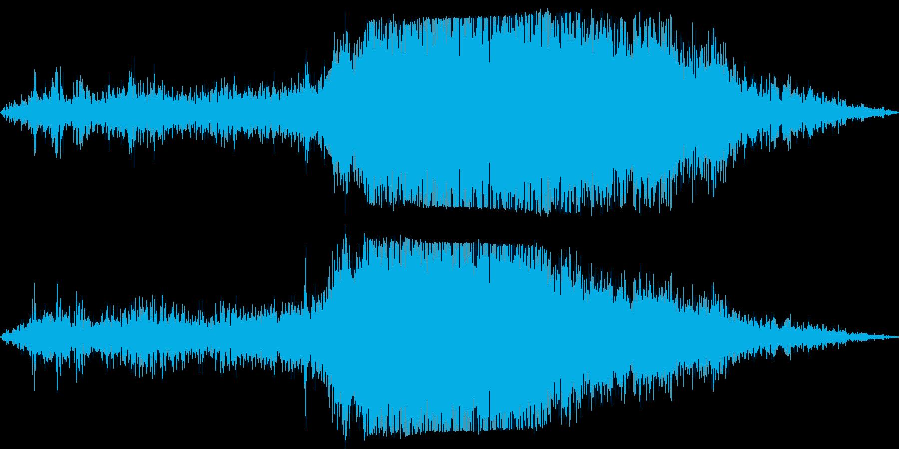 プロペラ機が滑走路から離陸の再生済みの波形