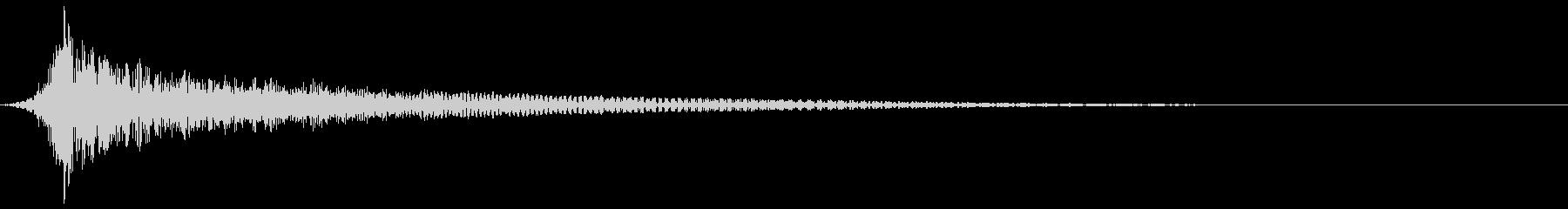 シネマチックなインパクト音の未再生の波形