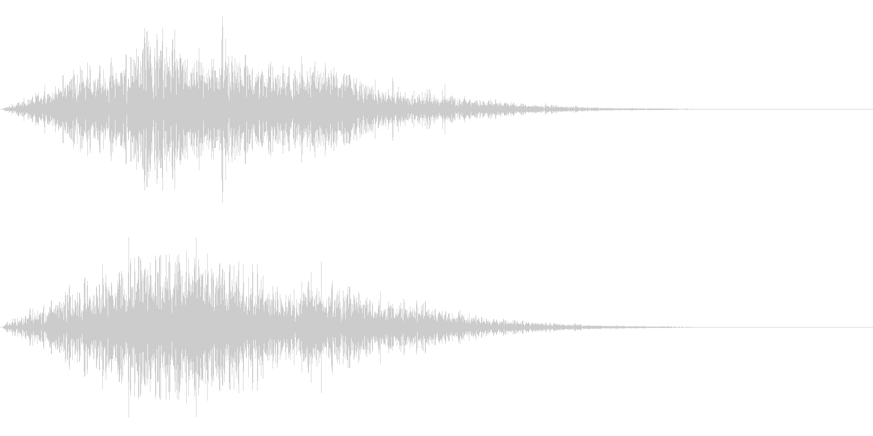 【SE 効果音】不気味な音3の未再生の波形