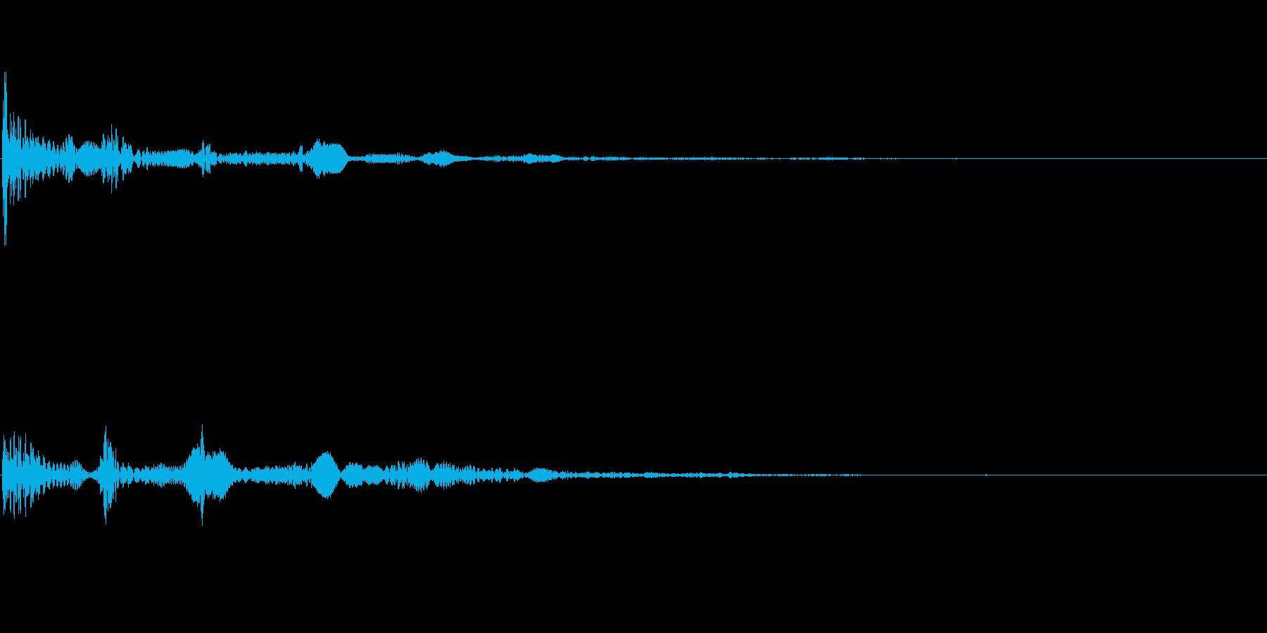 鈍く撓む音の再生済みの波形