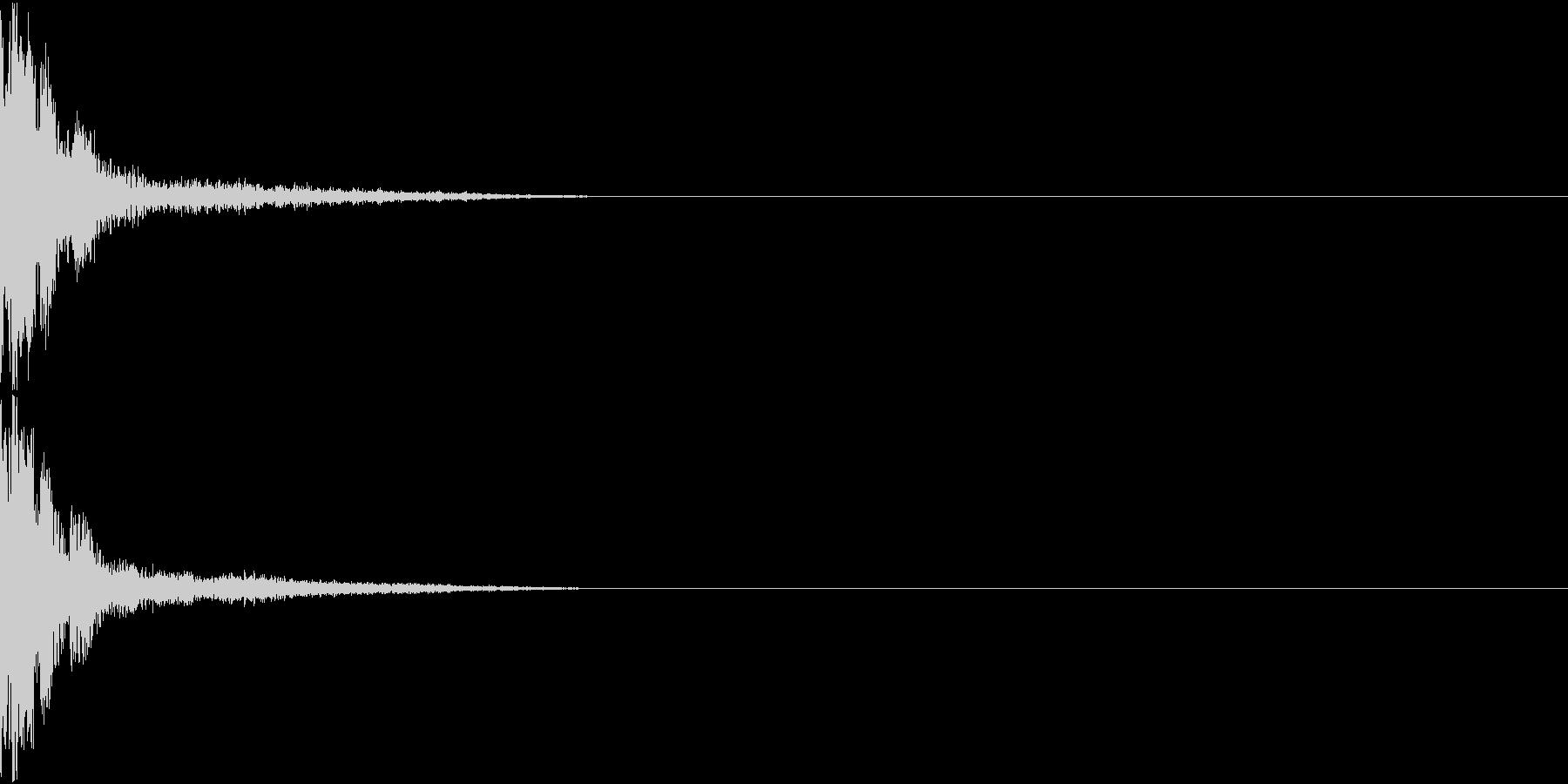 GUN レーザー銃 効果音付きの未再生の波形
