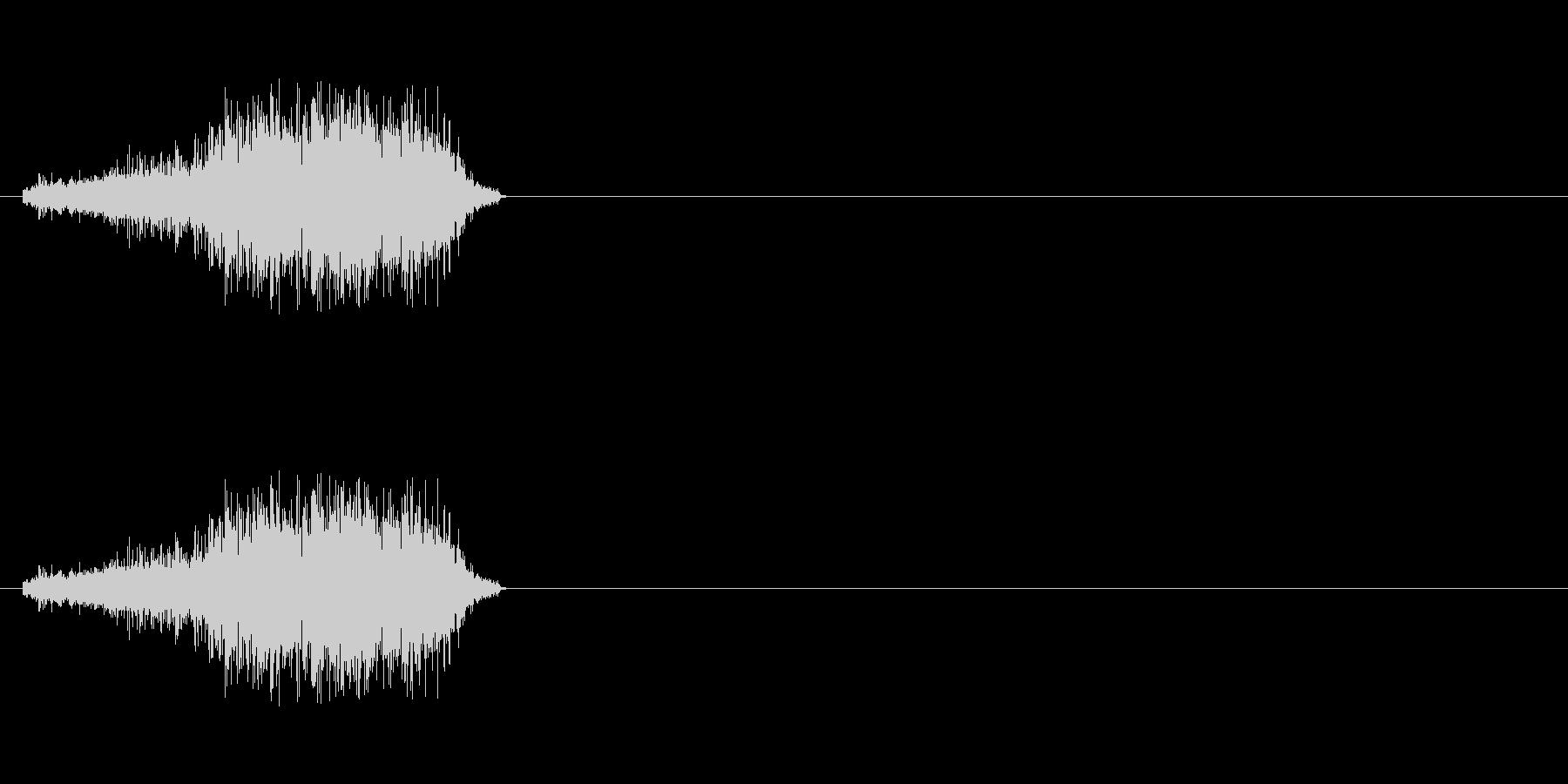 【生音】びりー。A4コピー用紙を破る音の未再生の波形