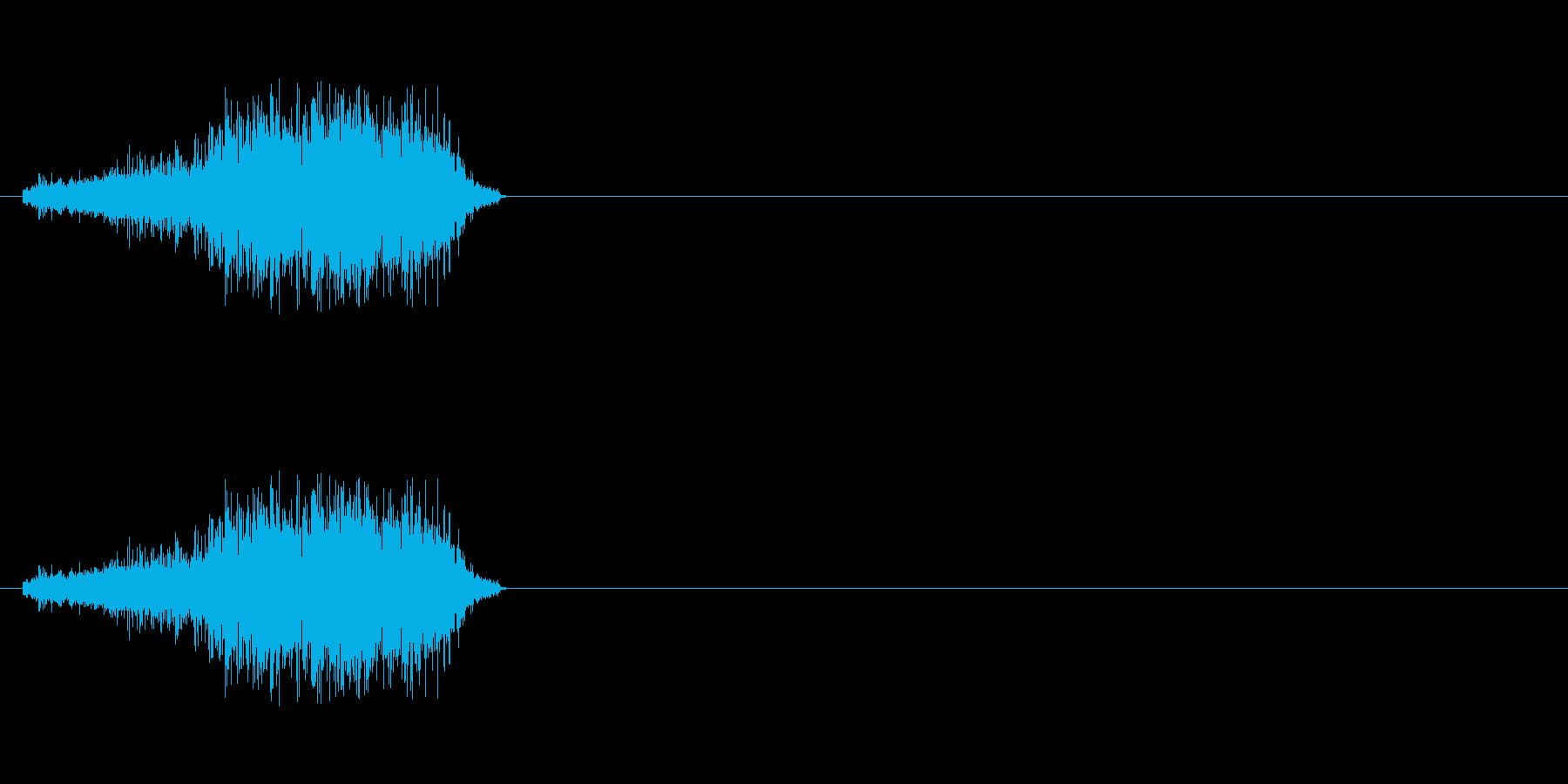 【生音】びりー。A4コピー用紙を破る音の再生済みの波形