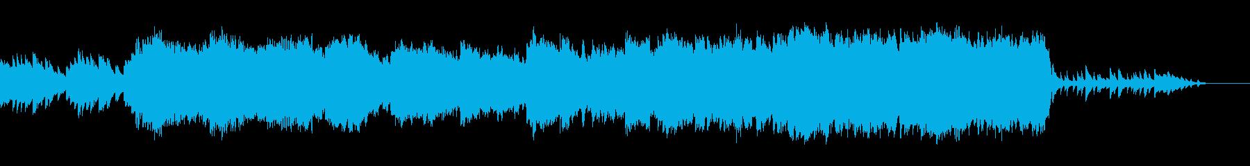 悲壮感のあるタイトル画面向きBGMの再生済みの波形