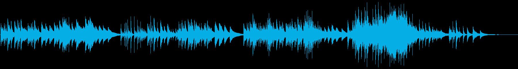 癒されるピアノバラードの再生済みの波形