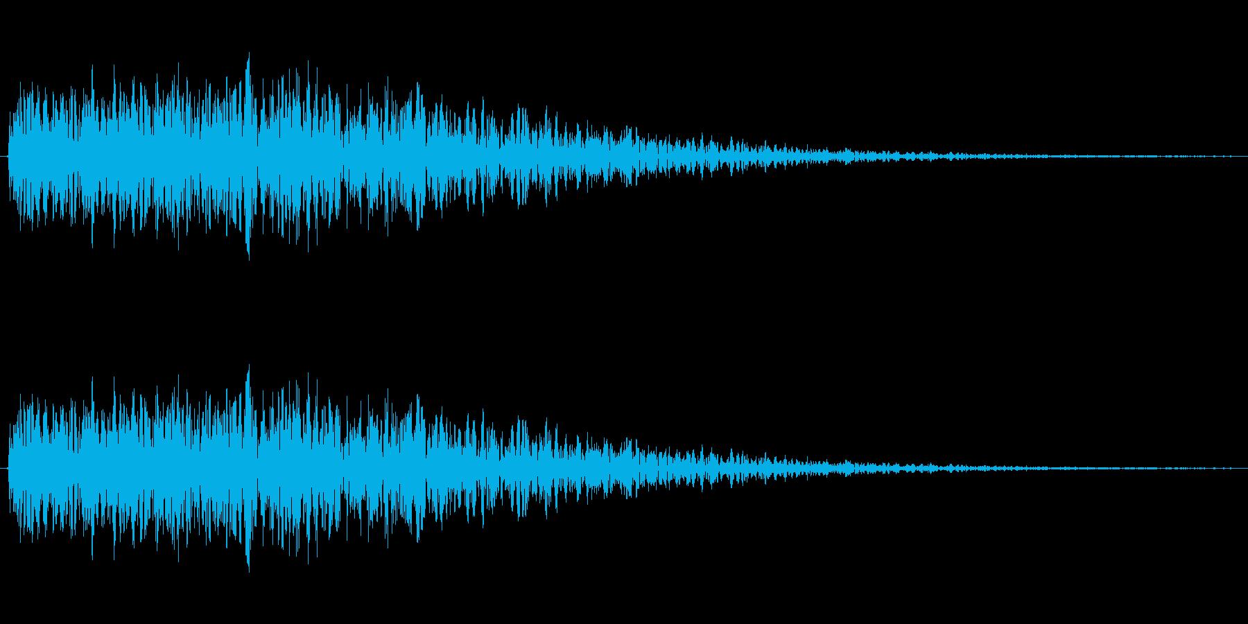 爆発音で少し風のような効果もありますの再生済みの波形