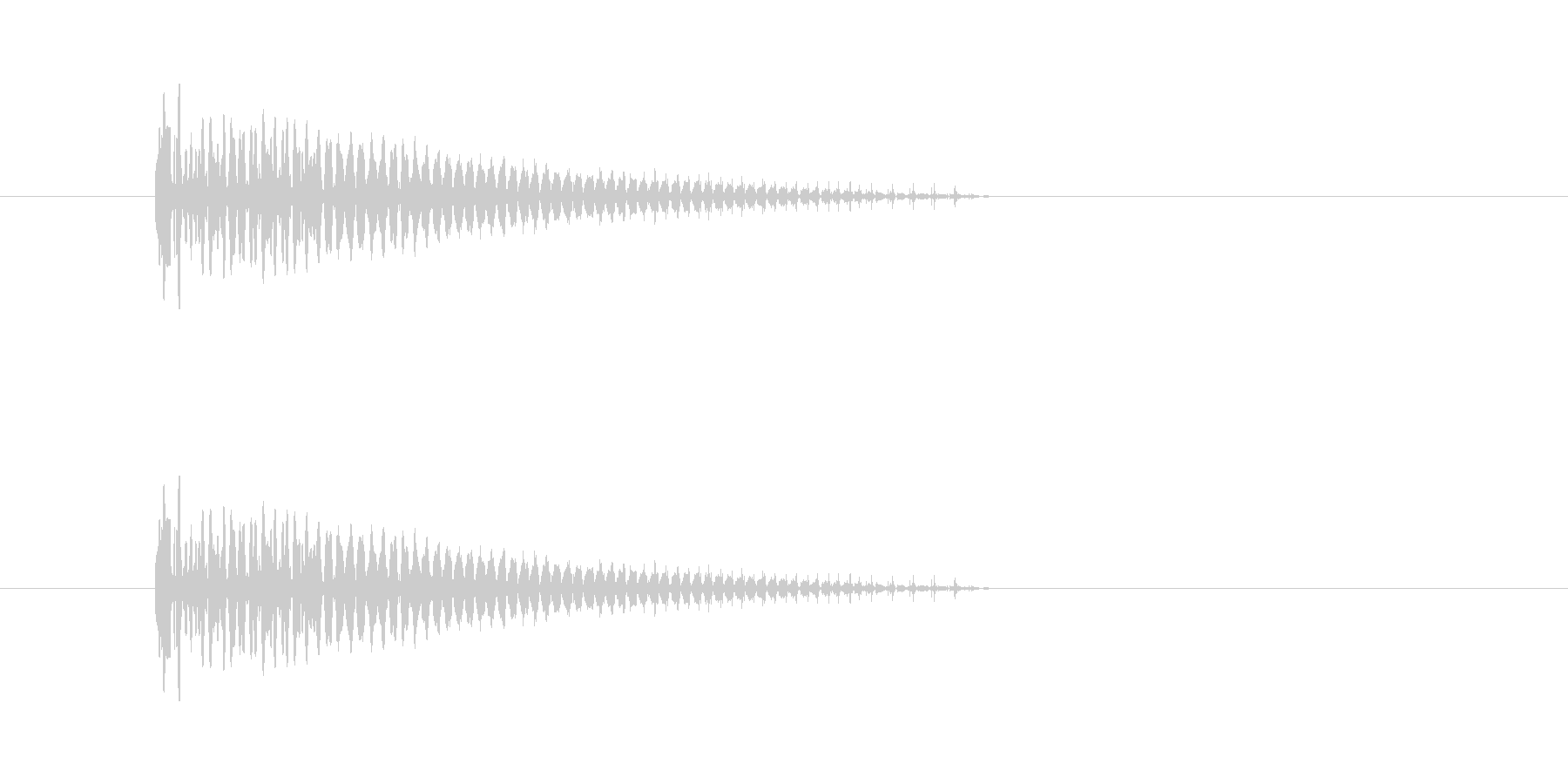 ぽしゅっ(キャンセル音)の未再生の波形