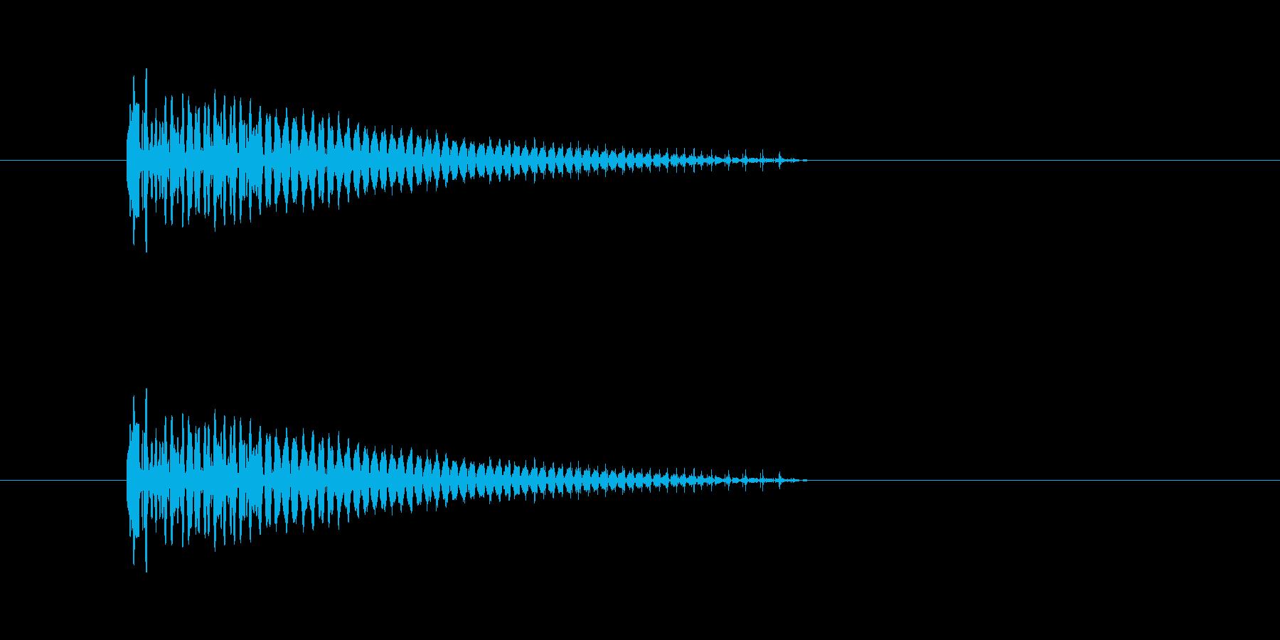 ぽしゅっ(キャンセル音)の再生済みの波形