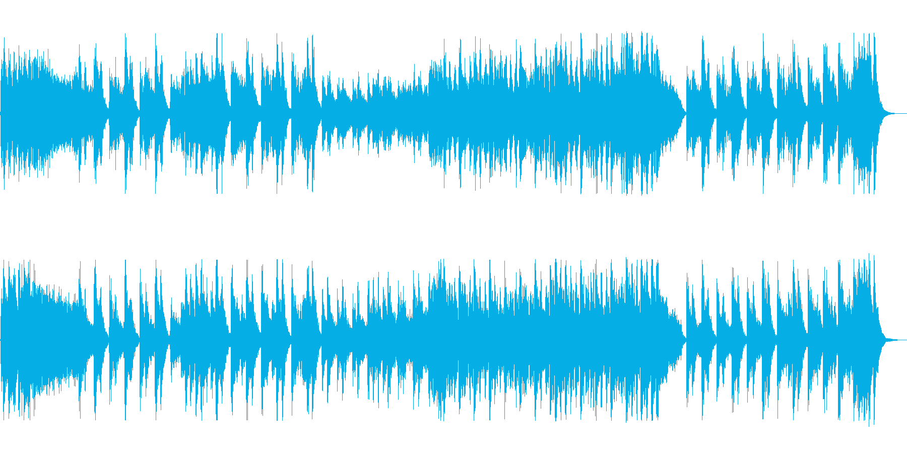 怪しげなハロウィン風オーケストラの再生済みの波形