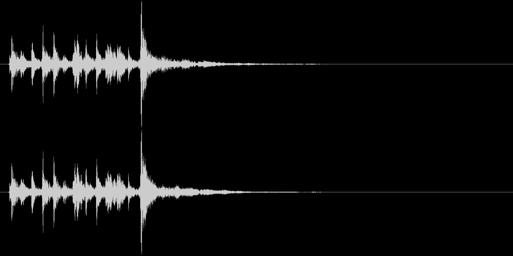 生演奏:心に響く少し切ない弦楽ピチカートの未再生の波形