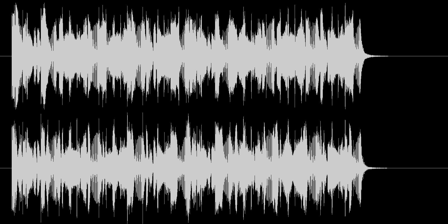 クイズ番組の出題に流れる音ですの未再生の波形