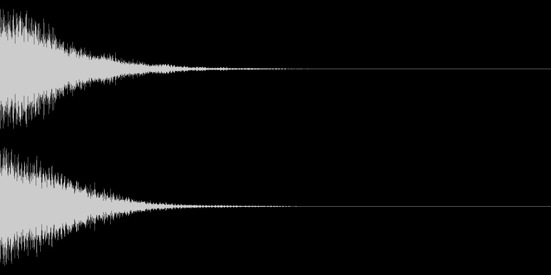 SF的な音の未再生の波形