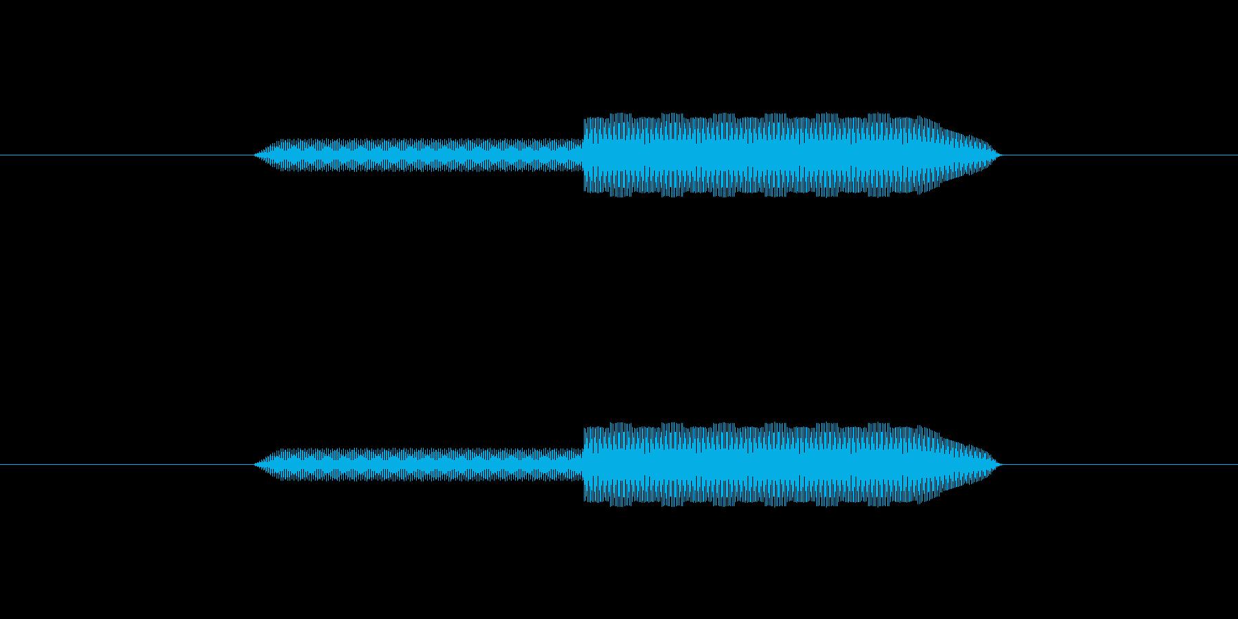 ピロッ↑【決定音:シンプルで可愛い】の再生済みの波形