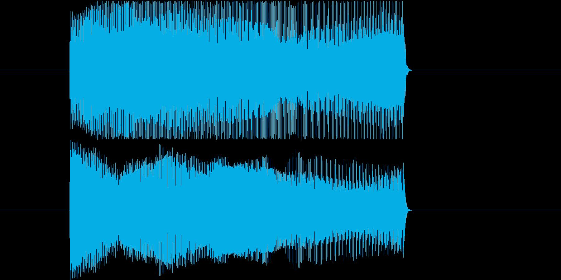落下音、投げる、滑る、ポップなシンセ音2の再生済みの波形