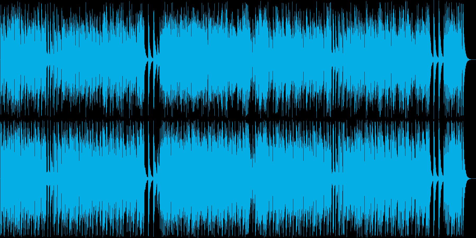明るいインフォメーションミュージックの再生済みの波形