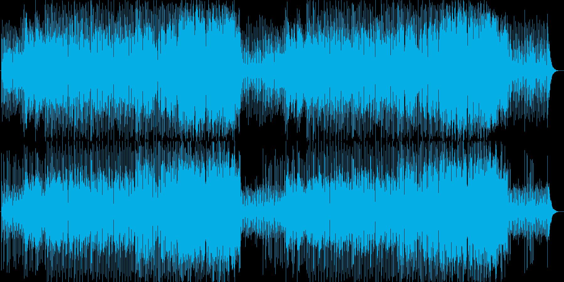 軽快で高揚感のあるポップスの再生済みの波形