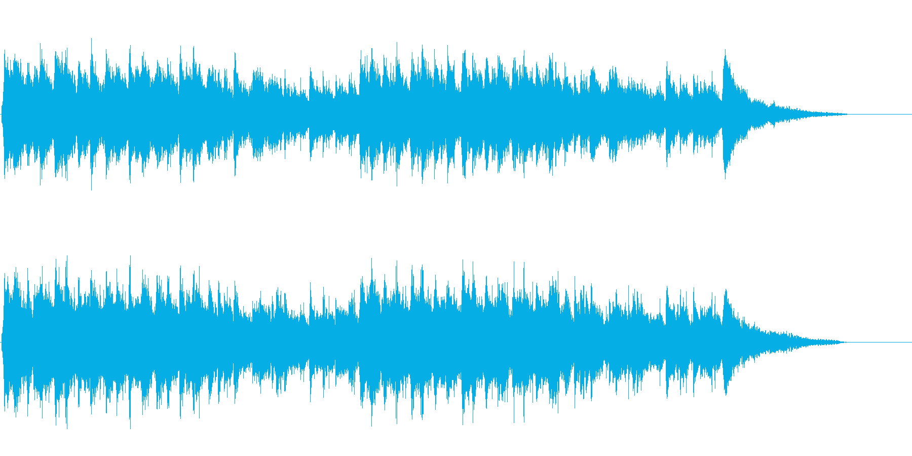 ソフトなポップス(アコースティック感覚)の再生済みの波形