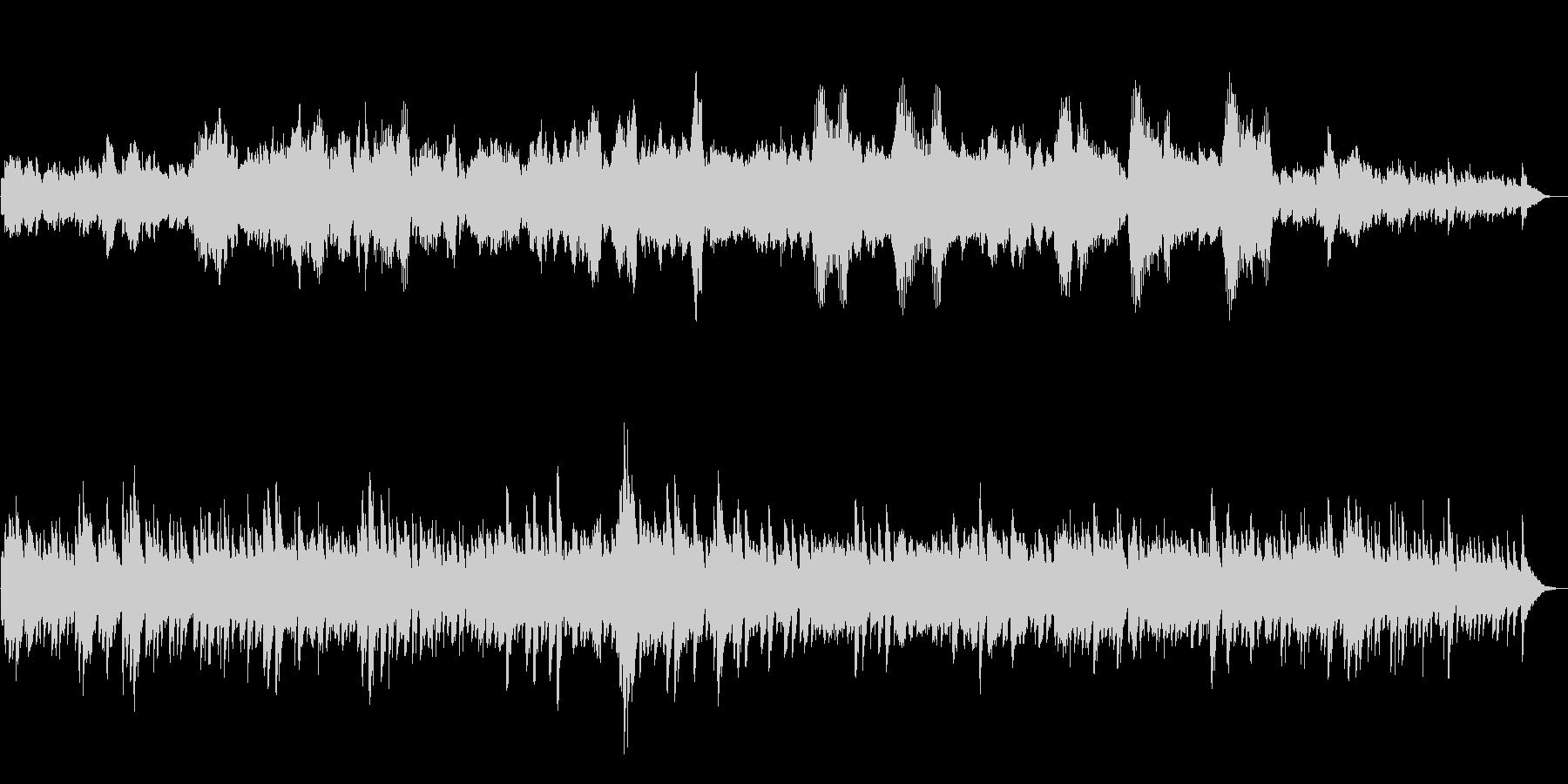 アベマリア ピアノとバイオリンのアレンジの未再生の波形