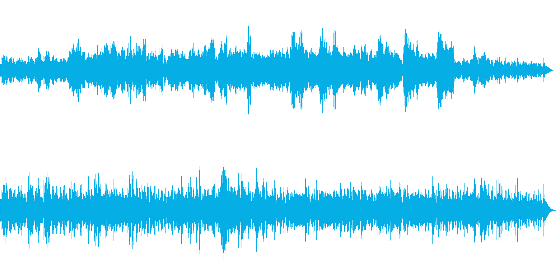 アベマリア ピアノとバイオリンのアレンジの再生済みの波形