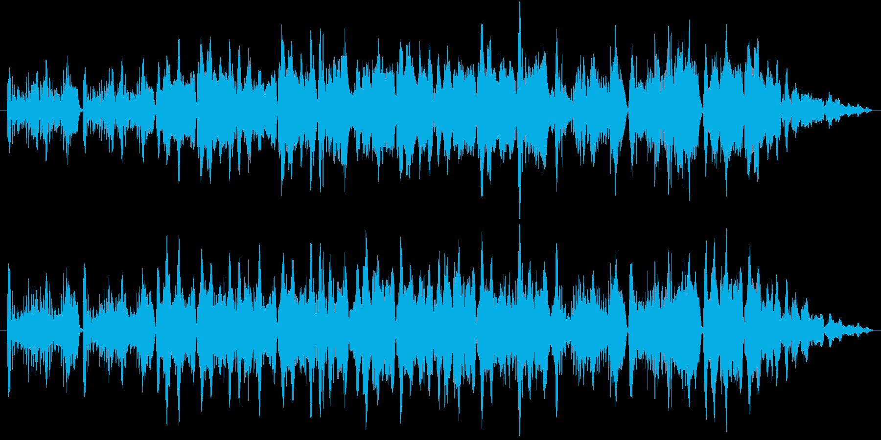悲しげでややコミカルなBGMの再生済みの波形