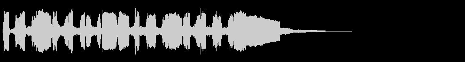 オリジナルメロディーの突撃ラッパ風の未再生の波形