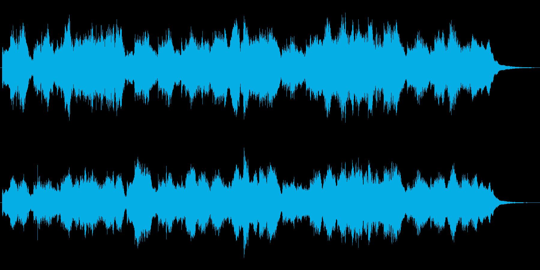 シンセによる明るいファンタジーの世界の再生済みの波形