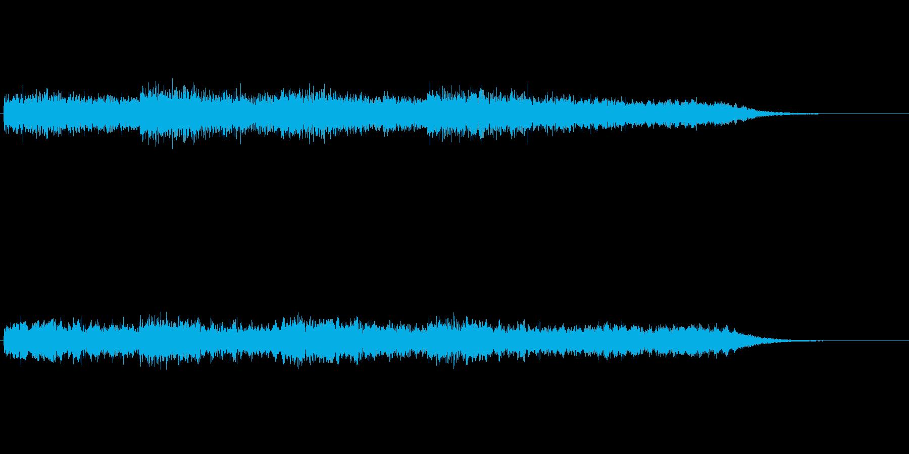 無重力風な宇宙の音イメージの再生済みの波形