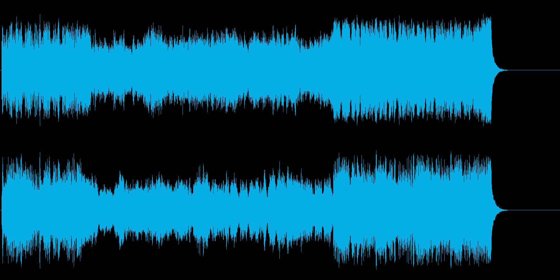 ファンファーレが幕開けを告げるクラシックの再生済みの波形