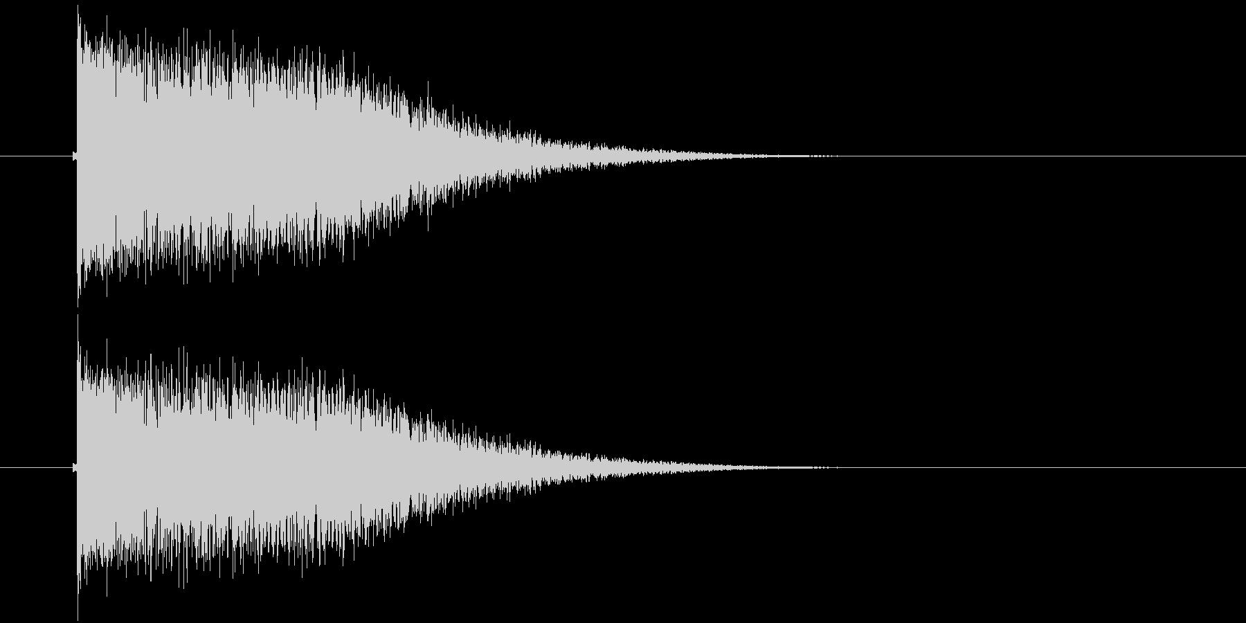 キーン(振動、輝き、金属)の未再生の波形