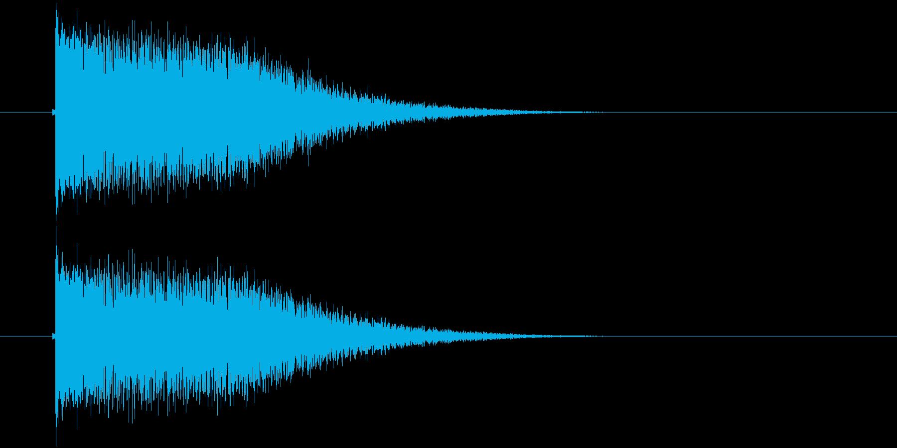 キーン(振動、輝き、金属)の再生済みの波形