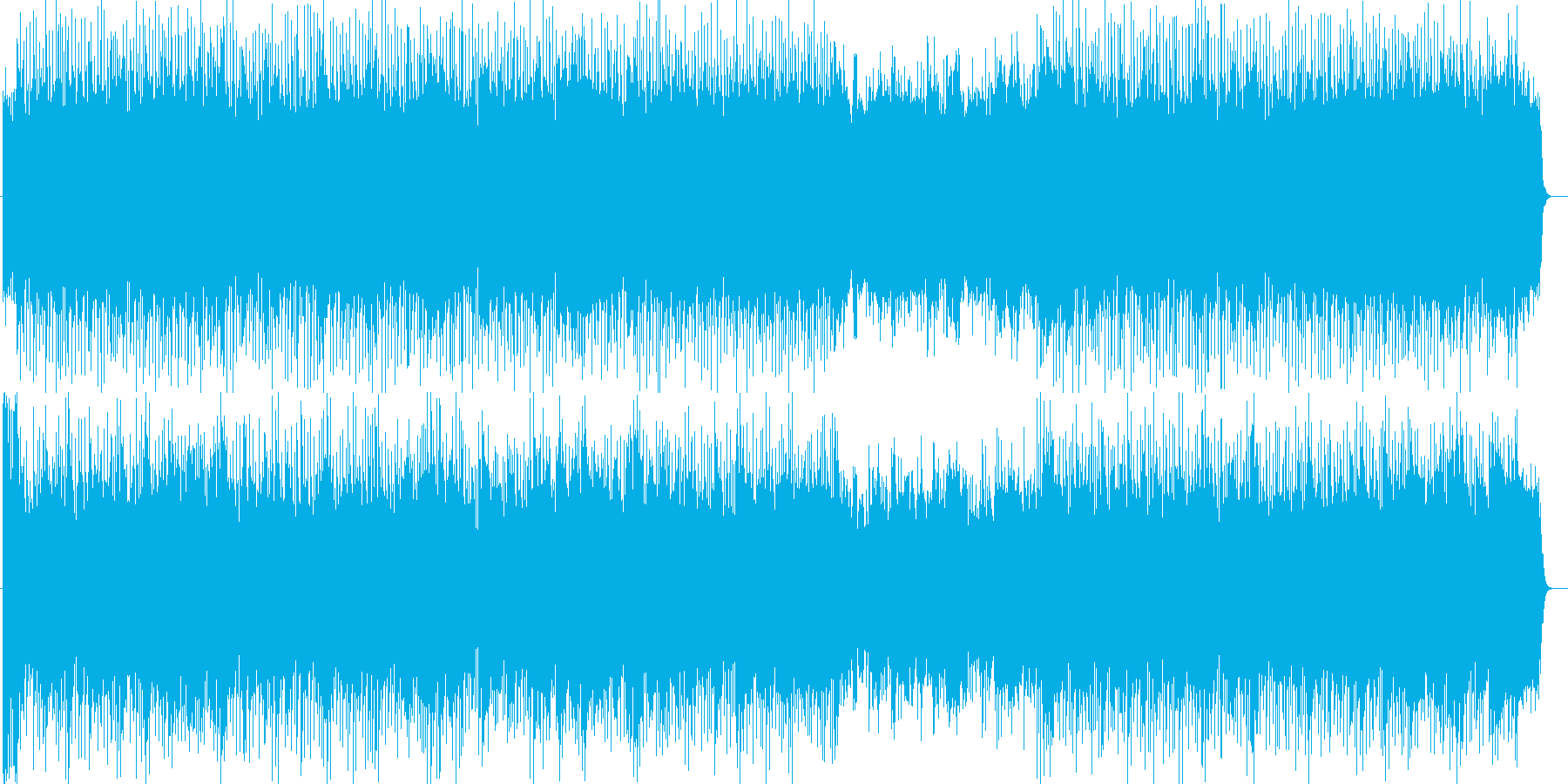 テーマパークショー風シンセやギター曲の再生済みの波形