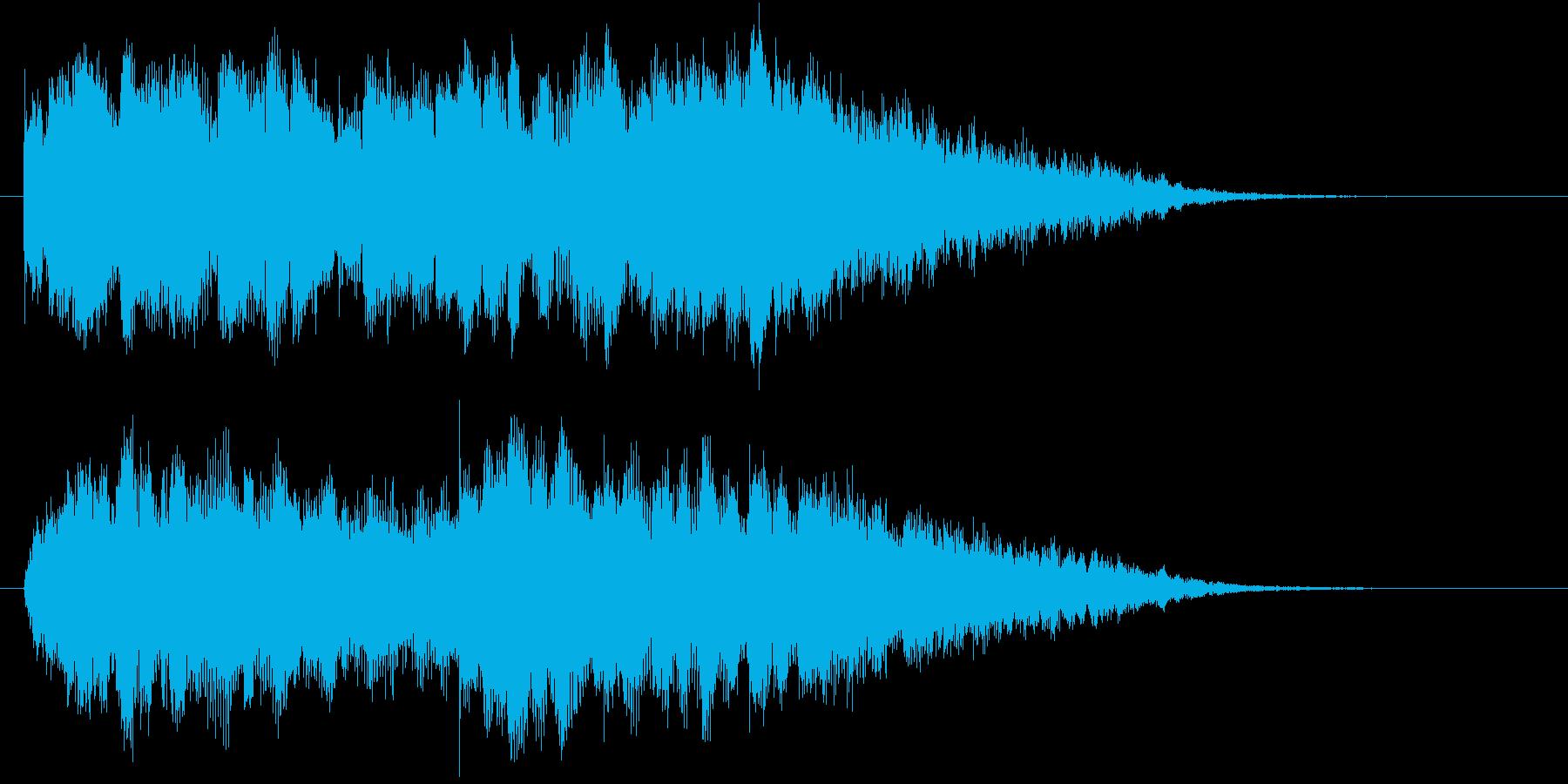 未来的、幻想的な映像オープニングロゴの再生済みの波形
