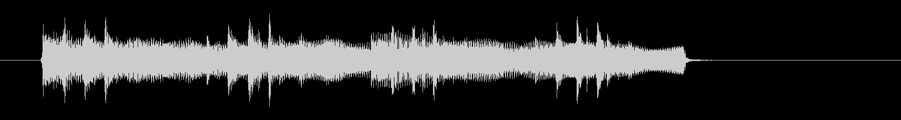 シリアスとドキドキ感シンセギターサウンドの未再生の波形
