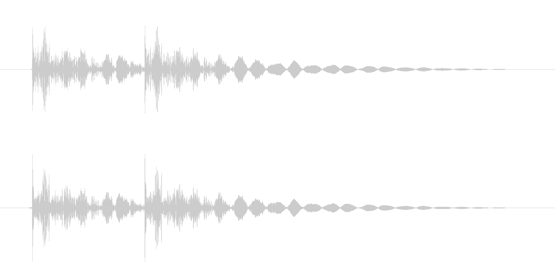 恐怖シリーズ2.ノックオン(鉄製2回)の未再生の波形