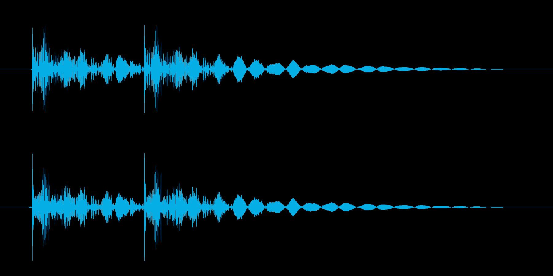 恐怖シリーズ2.ノックオン(鉄製2回)の再生済みの波形