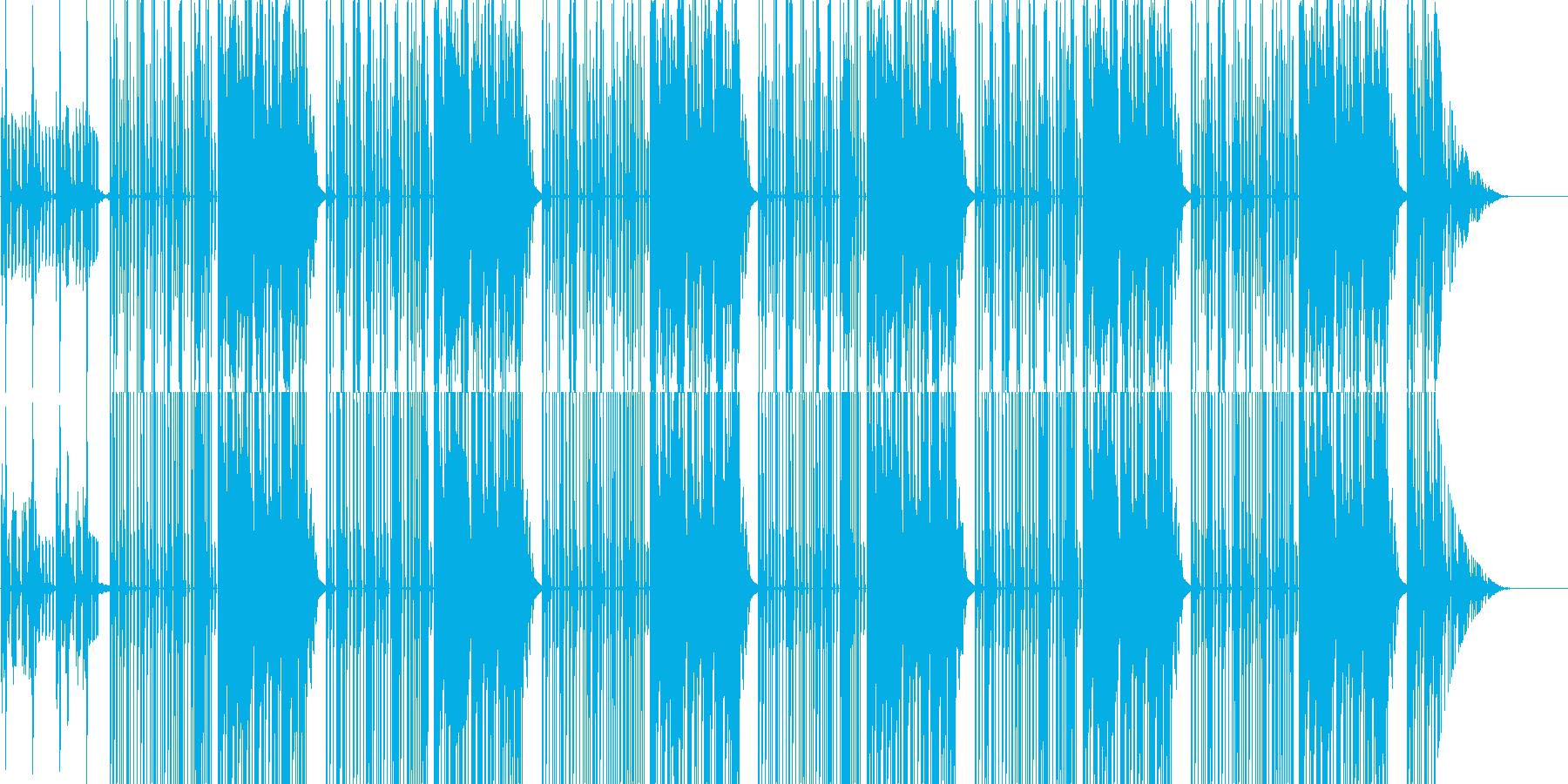 Trapのサイファー用ビートの再生済みの波形