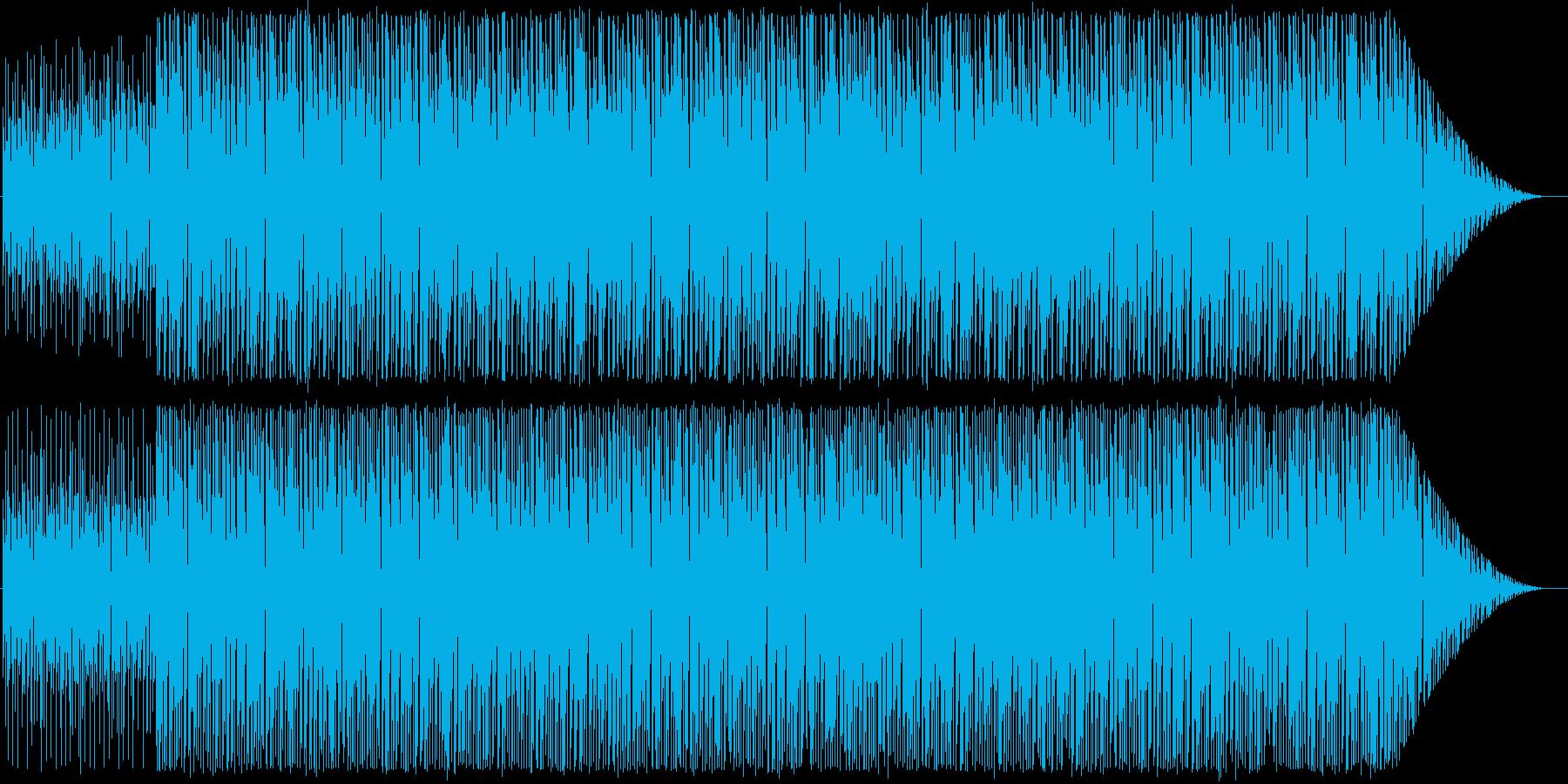古めのハウス系インスト曲2の再生済みの波形