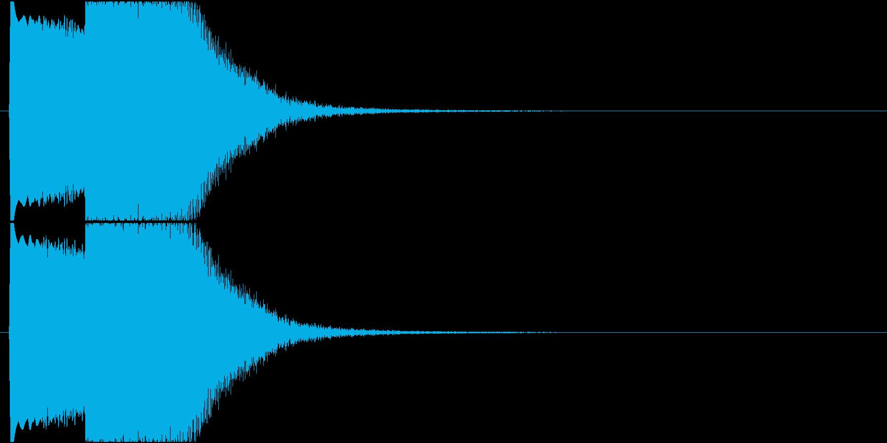 【SE 効果音】SF的な音4の再生済みの波形