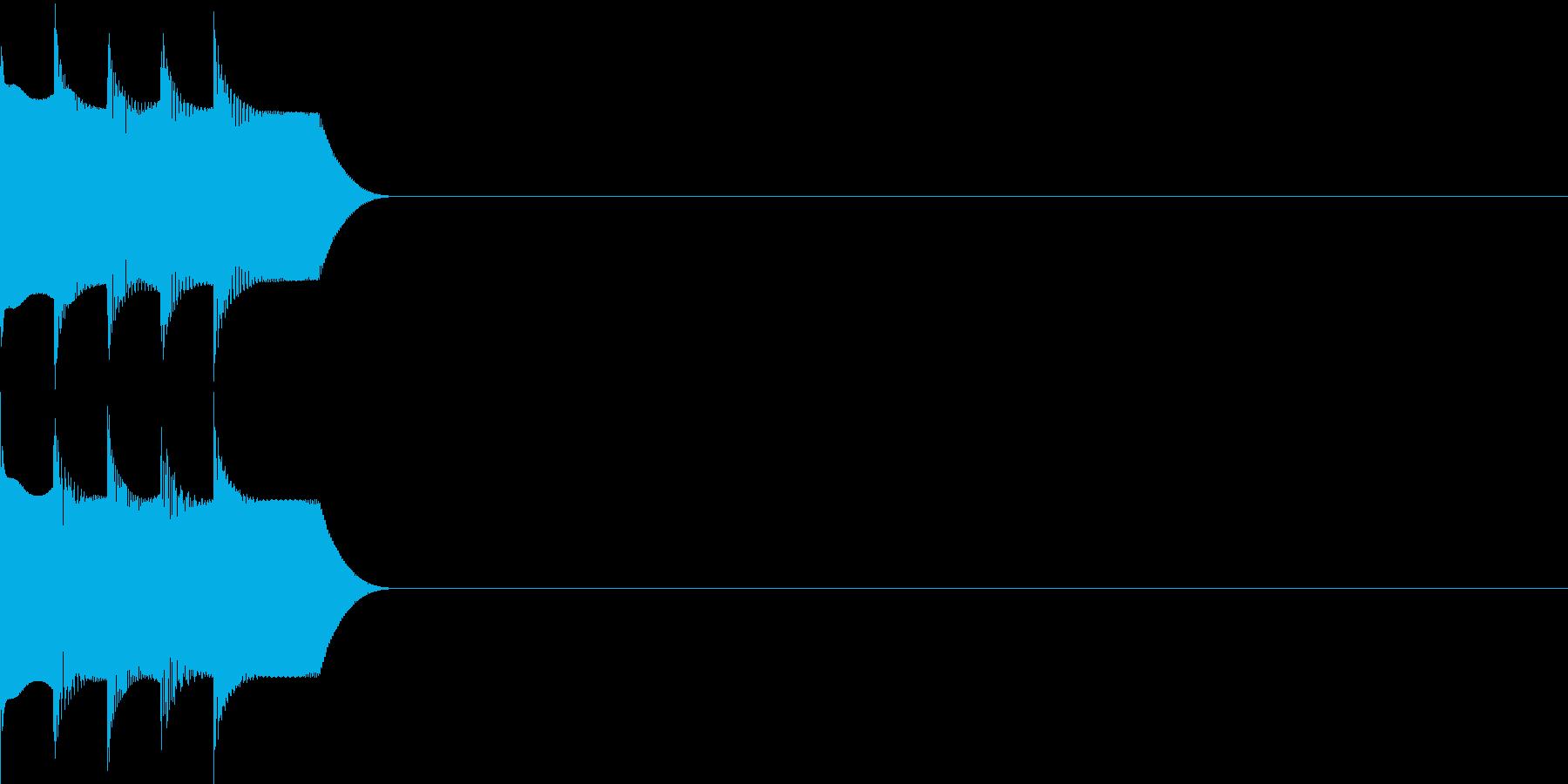 決定音24(シンセR)の再生済みの波形