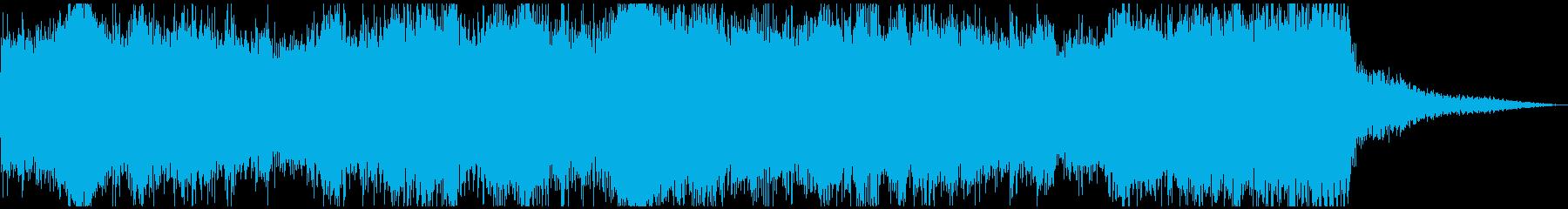 栄光を称賛する壮大なファンファーレの再生済みの波形