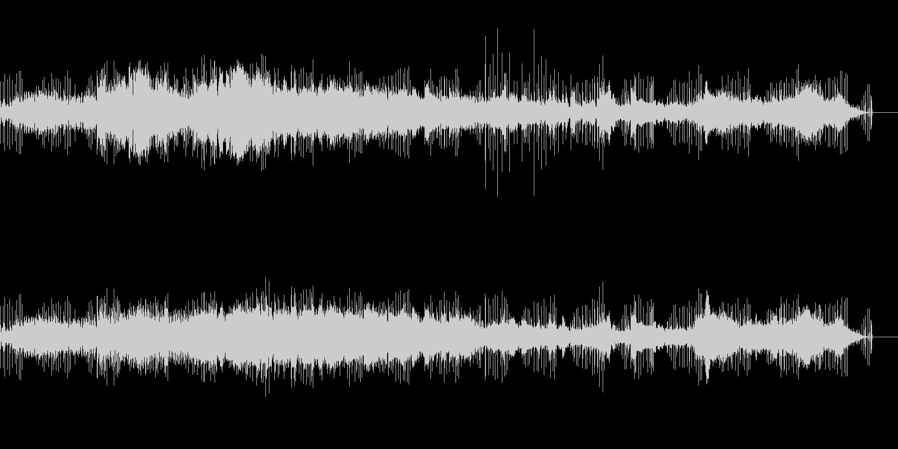 シンプルなサウンドスケープの未再生の波形