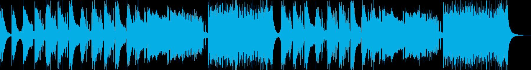 重苦しくてちょっと変な声が入る曲の再生済みの波形