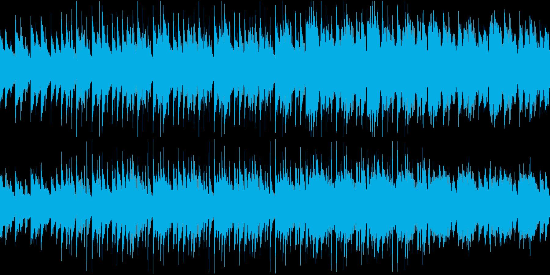 三拍子のミステリー風怪しいBGMの再生済みの波形