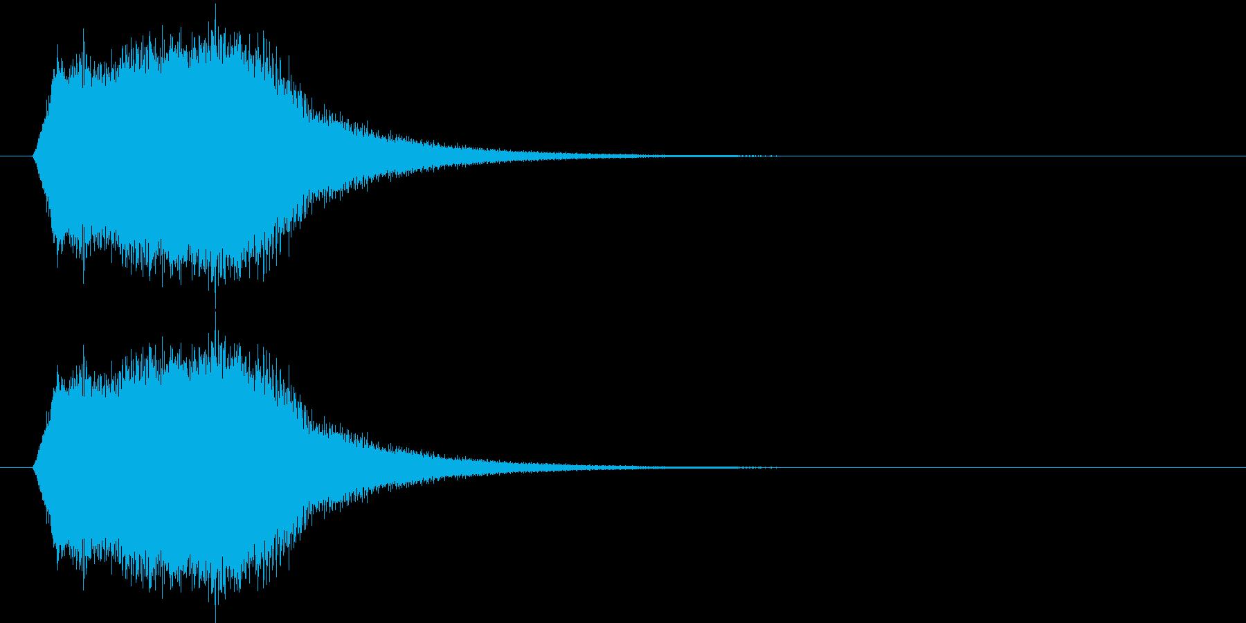 上昇_回復_復活SEの再生済みの波形