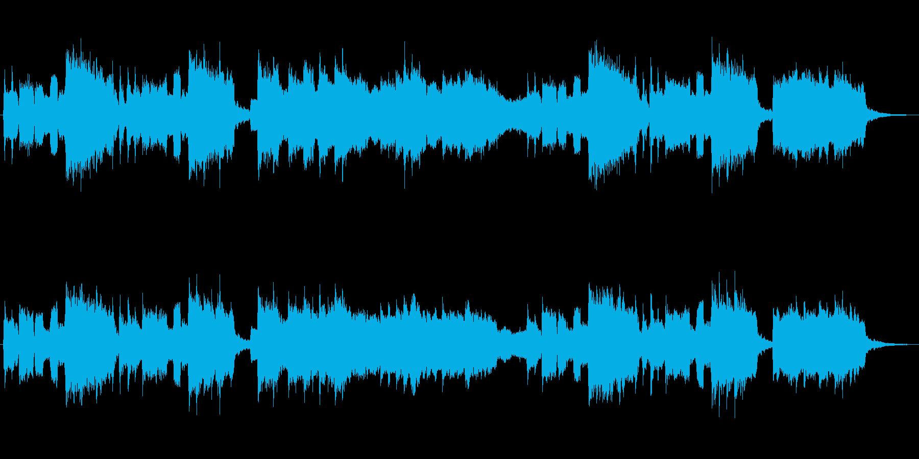 クラリネットが印象的なコミカルなジングルの再生済みの波形