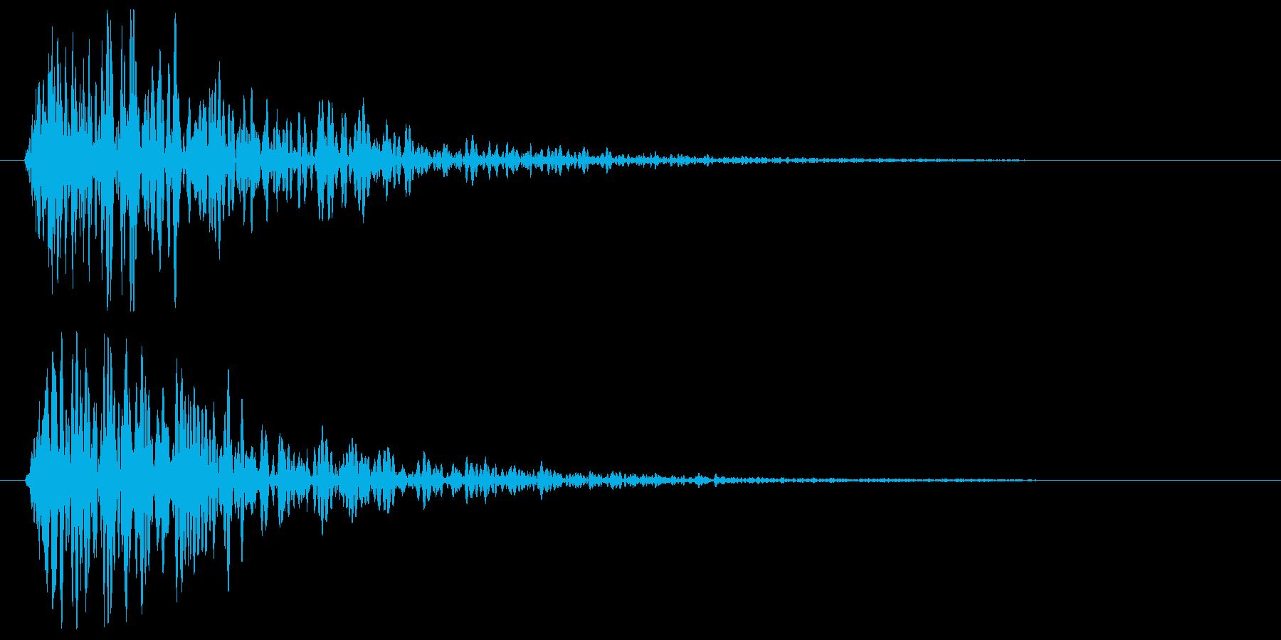 バン(ガンを発射した時の音)の再生済みの波形