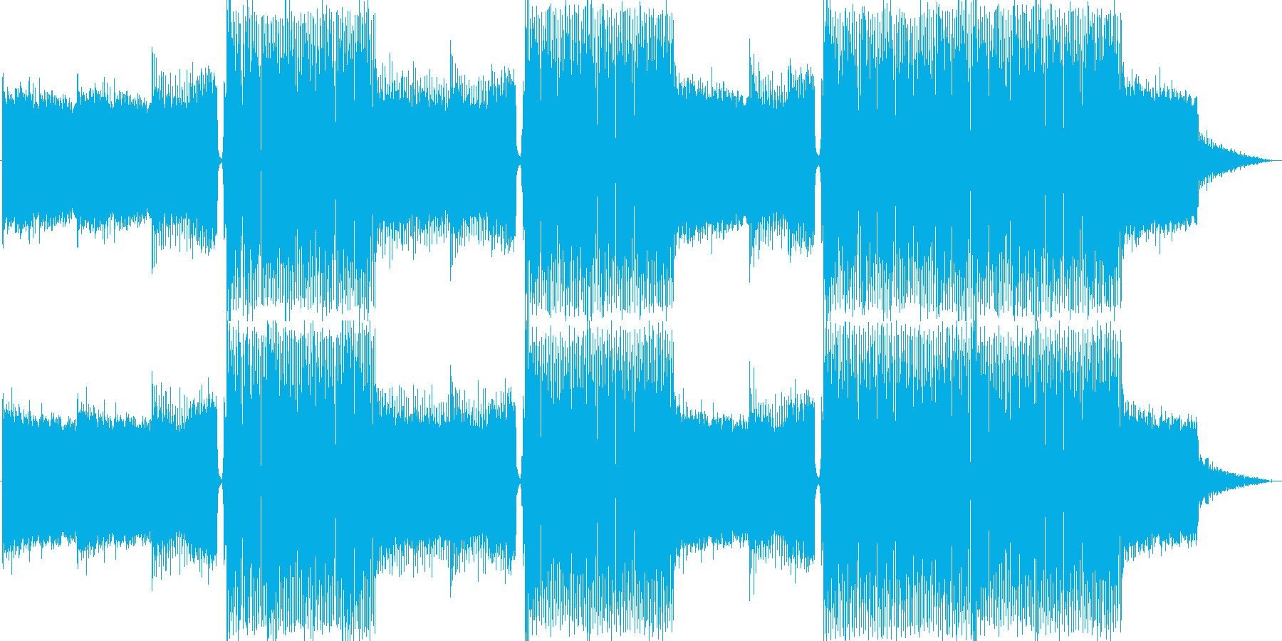 EDMクラブ系ダンスミュージック-01の再生済みの波形