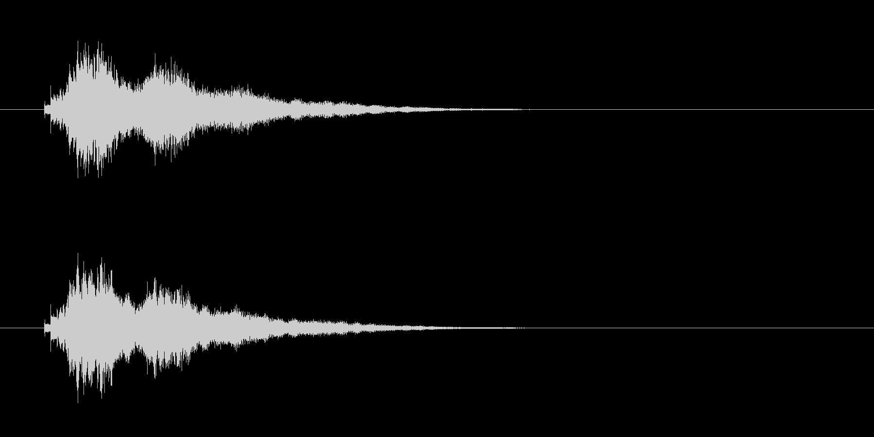 ウインドチャイムの未再生の波形