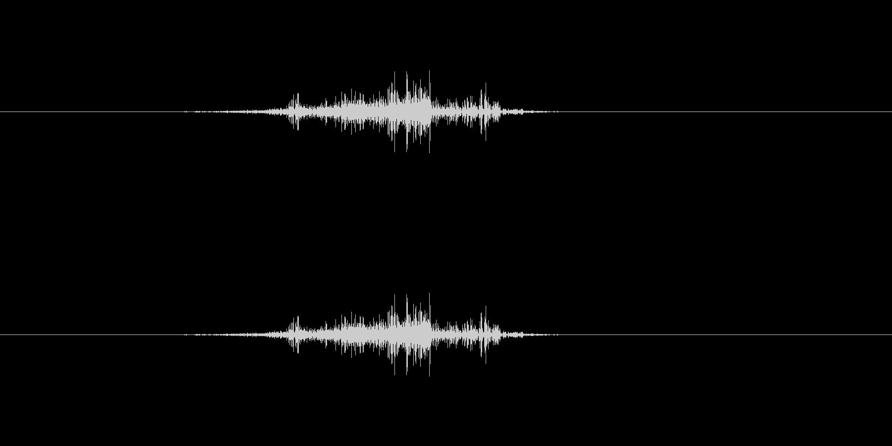 効果音、ページをめくる、ぺらっ、スワイ…の未再生の波形