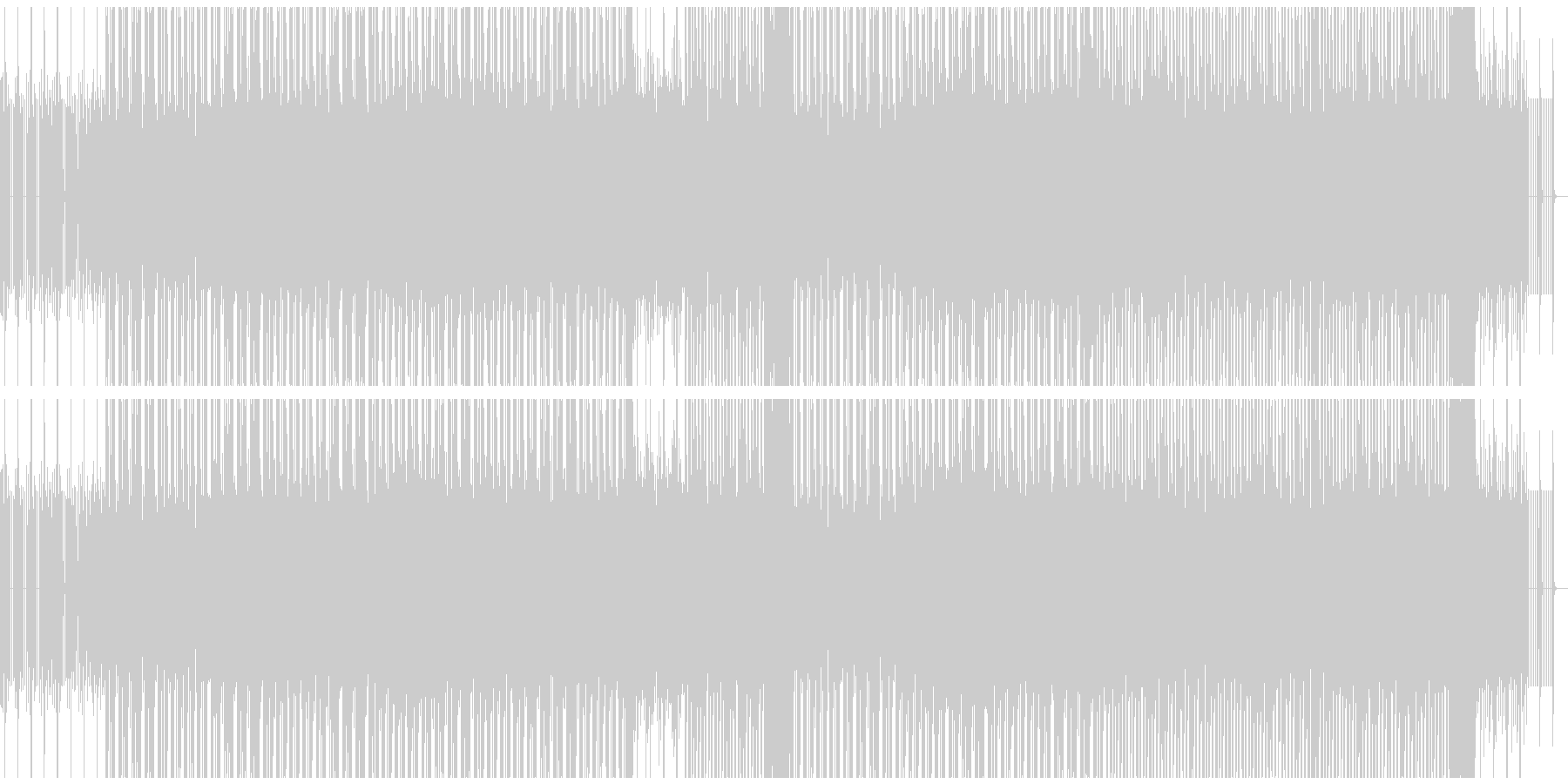 獰猛なイメージのベースミュージックの未再生の波形